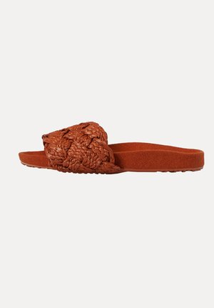 ARTISAN BRAIDED - Pool slides - brown