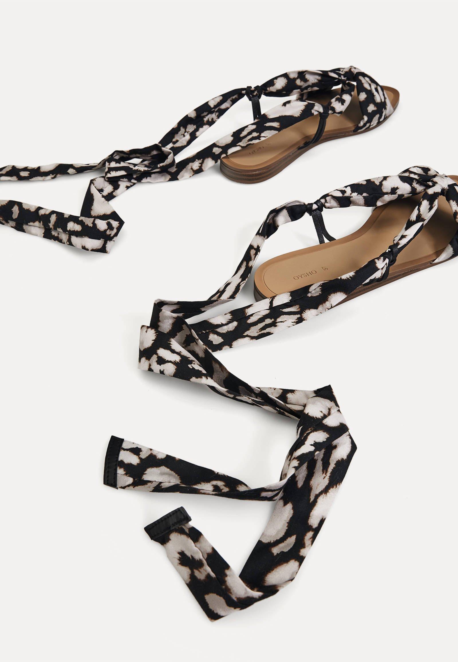2020 Nieuw Opruiming OYSHO SCARF TIE - Sandalen met enkelbandjes - multi-coloured - DjrGb