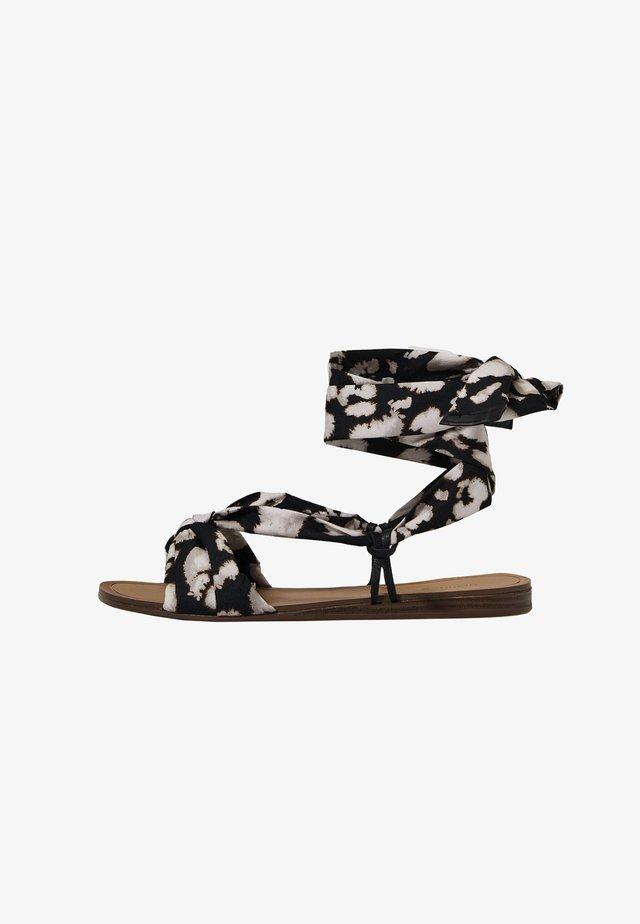 SCARF TIE - Sandały z cholewką - multi-coloured