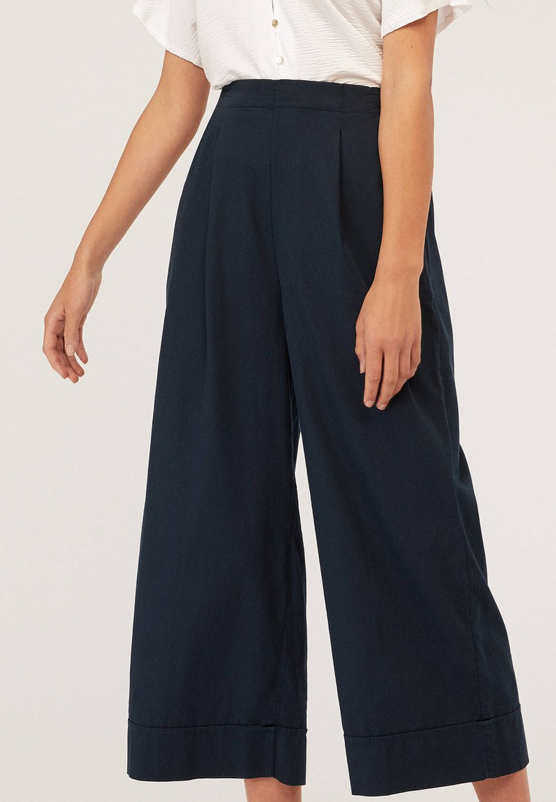 OYSHO - Trousers - dark blue