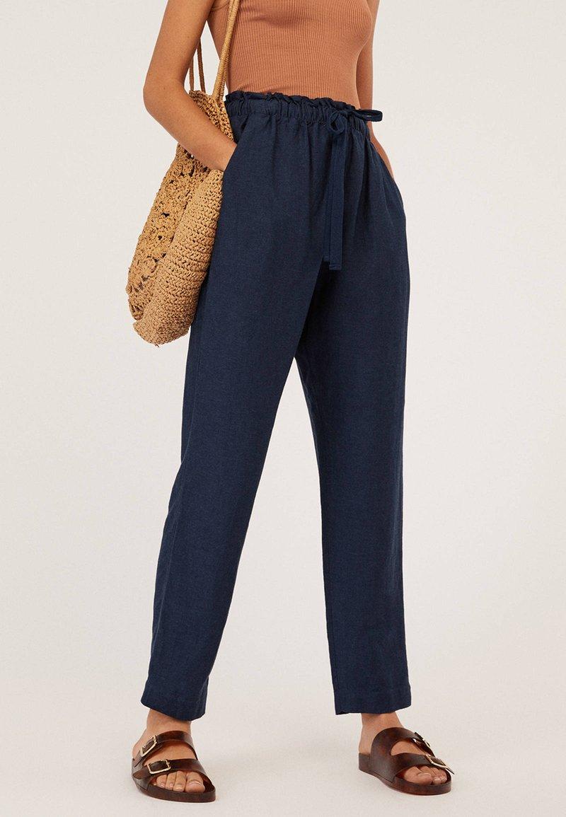 OYSHO - Trousers - dark blue