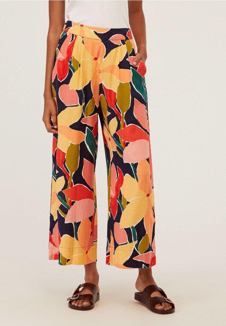 OYSHO - MIT BLÜTEN - Pantalon classique - multi coloured