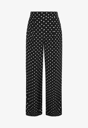 MIT MITTELGROSSEN PUNKTEN - Kalhoty - black