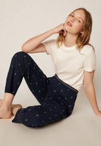 OYSHO - LANGE HOSE MIT ANKERN 30316169 - Pyjamabroek - dark blue - 1