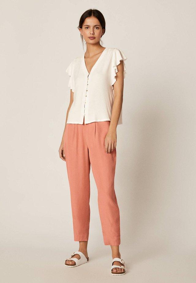 HOSE MIT WEITEM BEIN AUS TENCEL® 30325119 - Spodnie materiałowe - rose