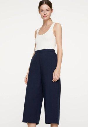 EINFARBIGE HOSE AUS TENCEL® 30307119 - Pantalon classique - dark blue