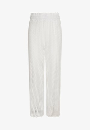 WEITE HÄKELHOSE - Pantaloni - white