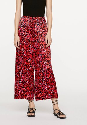 MIT IKAT-BLUMENPRINT  - Broek - red