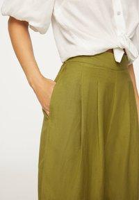 OYSHO - PALAZZO - Trousers - green - 5