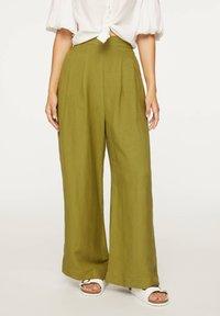 OYSHO - PALAZZO - Trousers - green - 0