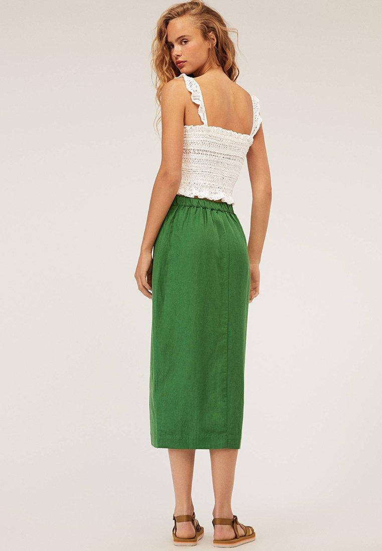 OYSHO - Maxi skirt - ever green