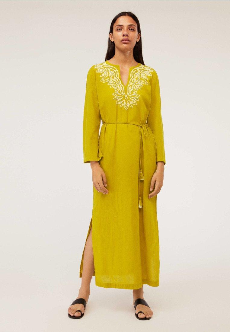 OYSHO - Robe longue - yellow