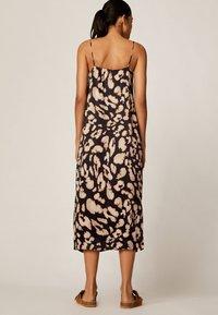 OYSHO - MIT LEOPARDENPRINT - Korte jurk - black - 1