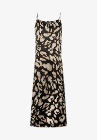 OYSHO - MIT LEOPARDENPRINT - Korte jurk - black - 5