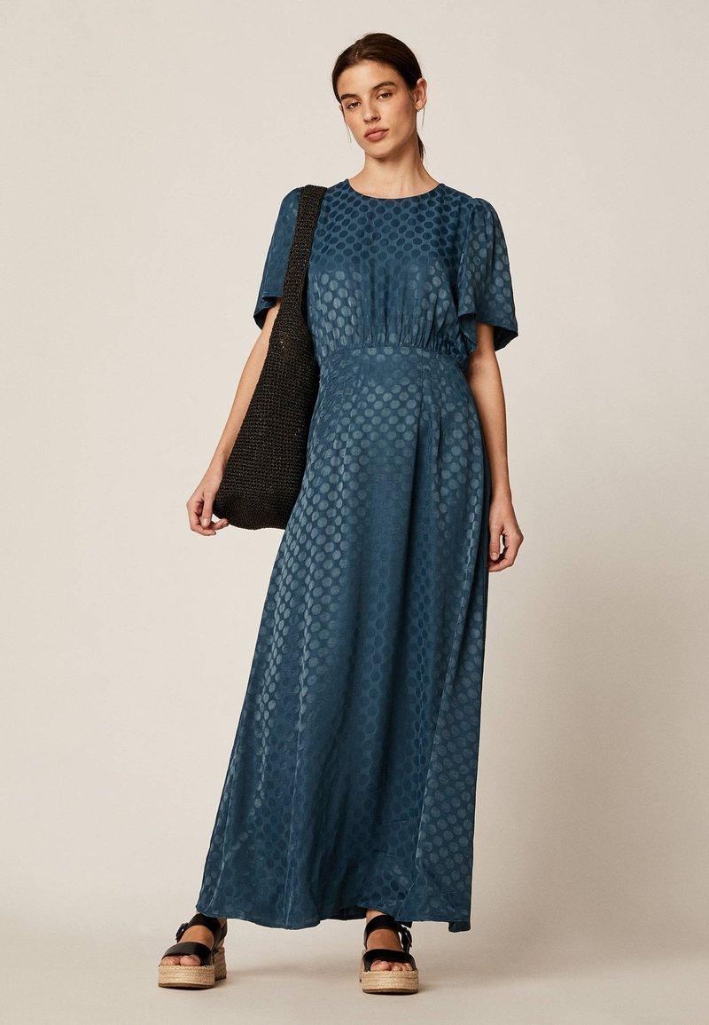 OYSHO - Maxi šaty - dark blue