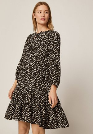MIT MARGERITENPRINT - Jersey dress - black