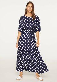 OYSHO - GETUPFTES KLEID 31962115 - Robe d'été - dark blue - 0