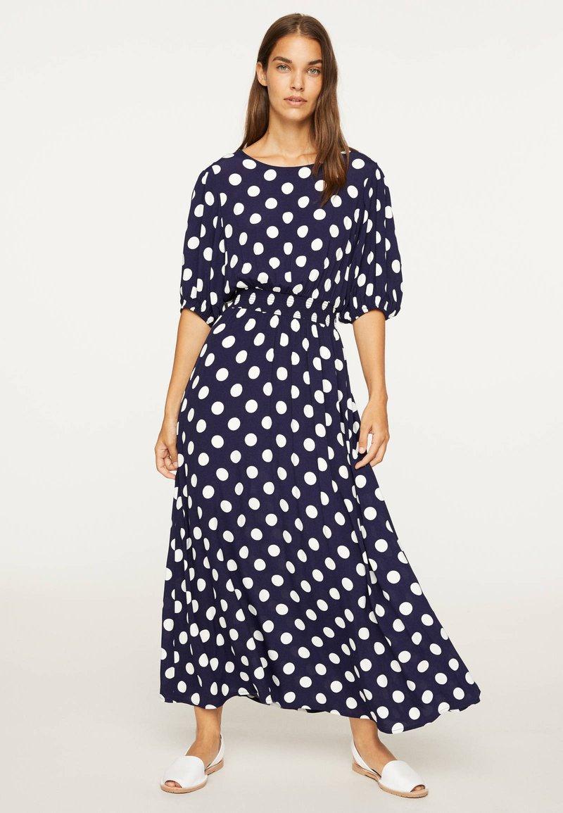 OYSHO - GETUPFTES KLEID 31962115 - Robe d'été - dark blue