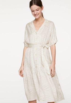 MIT ZEBRAPRINT  - Košilové šaty - beige