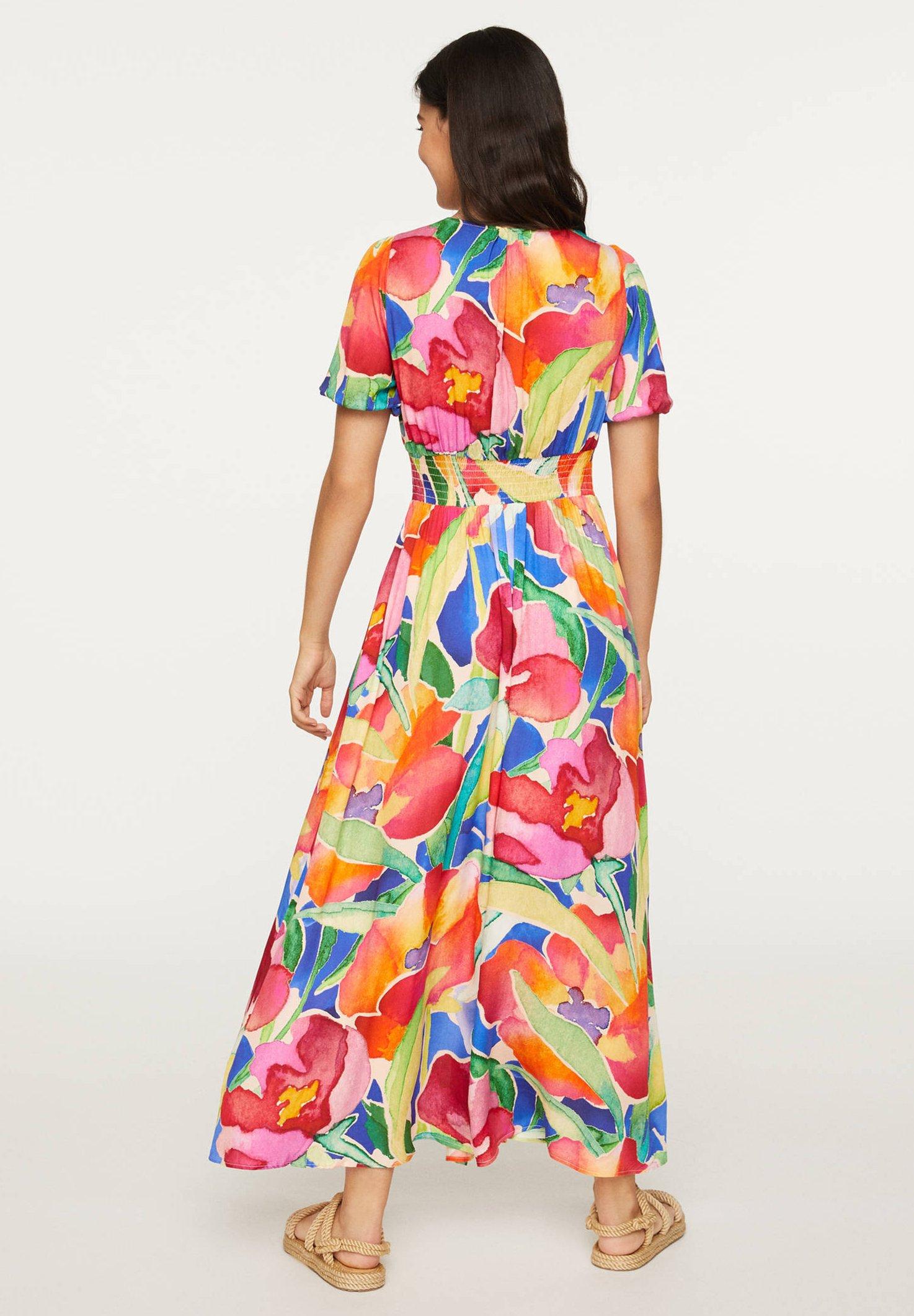 OYSHO Robe longue multi coloured ZALANDO.FR