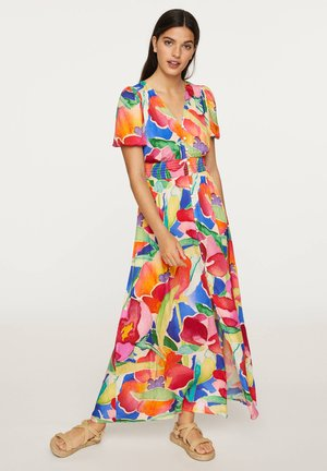 LONG MAXI-FLORAL DRESS 31992115 - Długa sukienka - multi-coloured