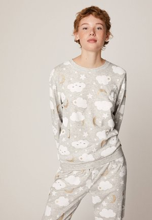 MIT WOLKENPRINT - Koszulka do spania - light grey