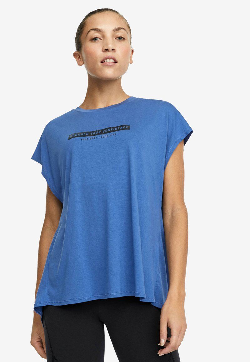 OYSHO_SPORT - T-shirt imprimé - blue