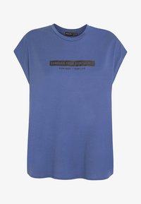 OYSHO_SPORT - T-shirt imprimé - blue - 5