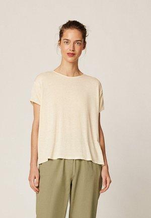 MIT METALLICGARN - T-shirts basic - beige