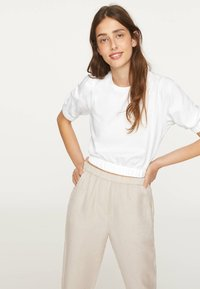OYSHO - T-shirt basic - white - 3