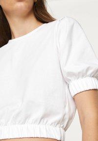 OYSHO - T-shirt basic - white - 4