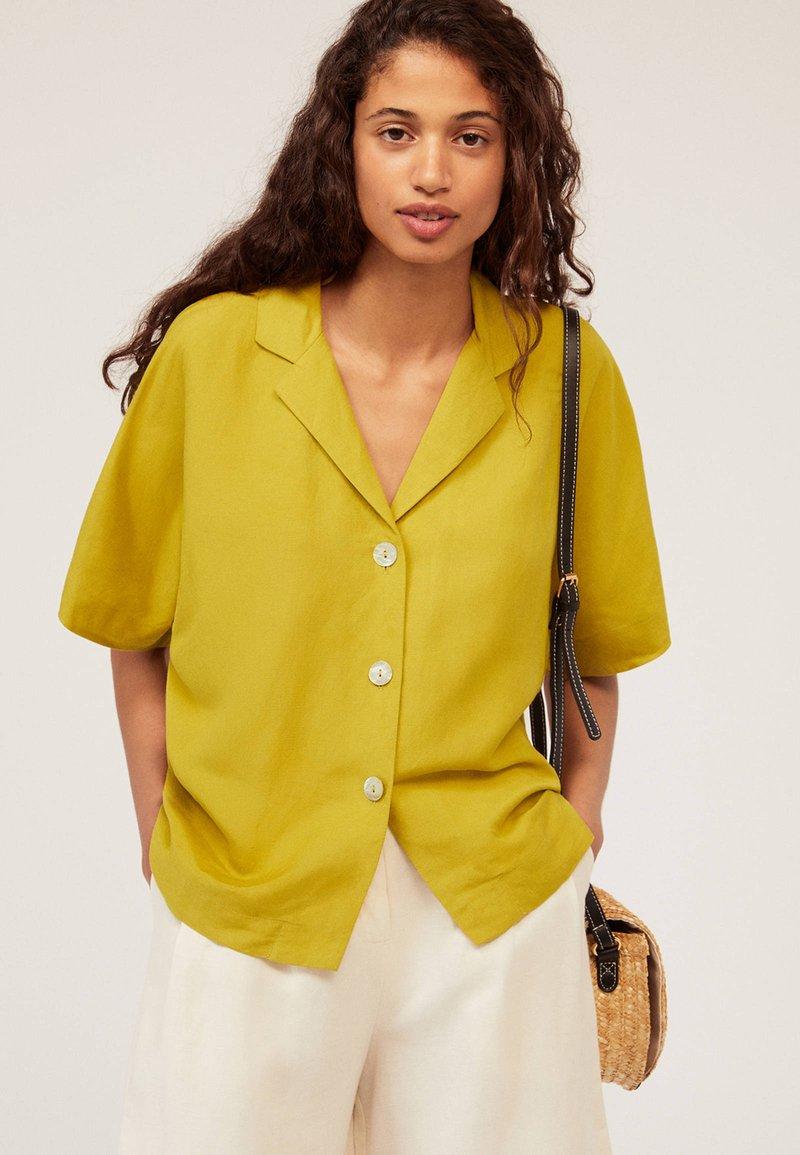OYSHO - Hemdbluse - yellow