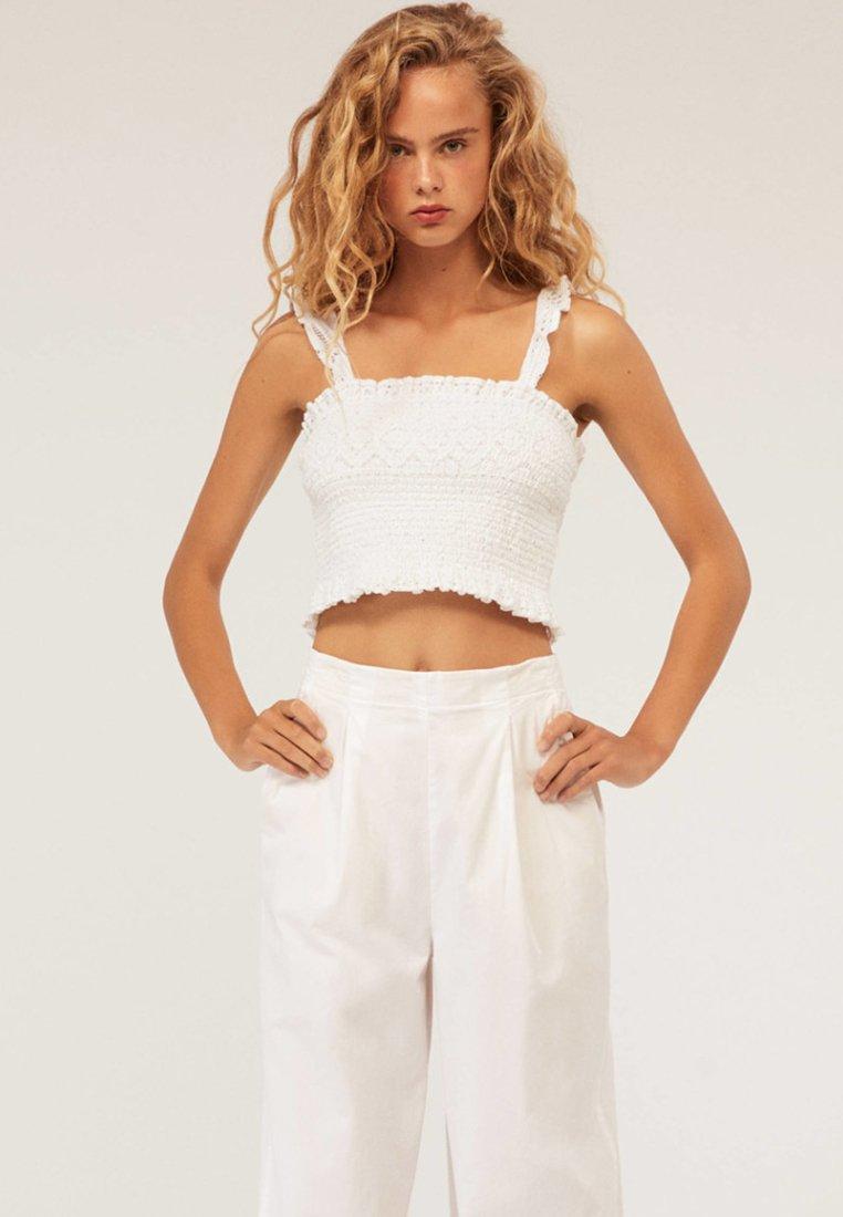OYSHO - HÄKEL - Bluse - white