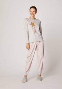 OYSHO - MIT ZAUBERSTAB - Pyjamapaita - light grey - 1