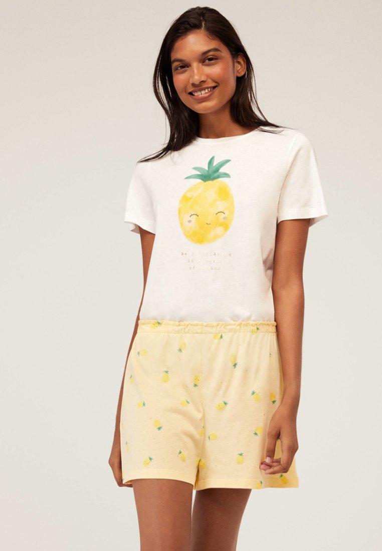 OYSHO - Spodnie od piżamy - yellow
