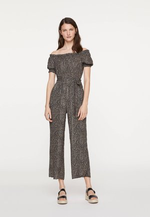 OFF-SHOULDER-OVERALL MIT PAISLEY-PRINT 31030114 - Jumpsuit - black