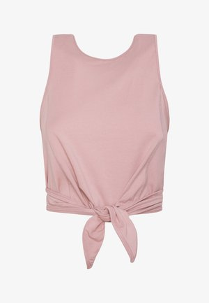 MIT KNOTENDETAIL - Top - pink