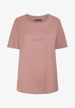 MIT AUFSCHRIFT  - Print T-shirt - rose