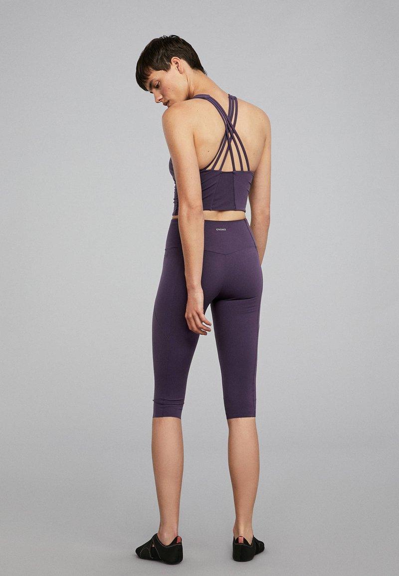 OYSHO_SPORT - SCULPT - 3/4 Sporthose - dark purple