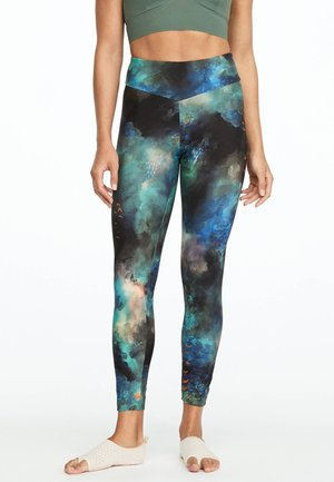 MIT PFAU-PRINT  - Leggings - multi-coloured