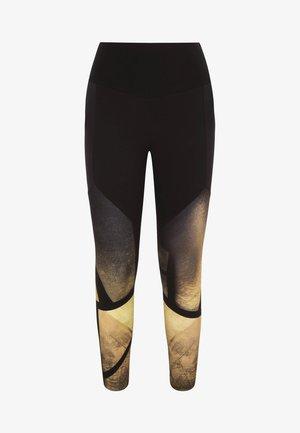 MIT GOLDFARBENEM PRINT - Onderbroek - black