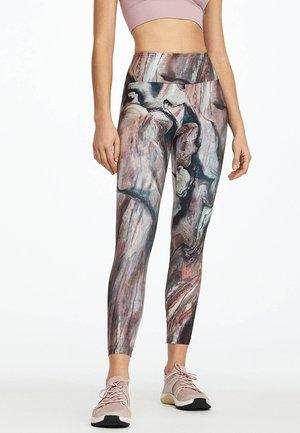 MIT MARMORPRINT - Leggings - multi-coloured