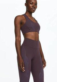 OYSHO_SPORT - Tights - dark purple - 3