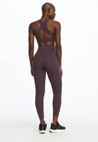 OYSHO_SPORT - Tights - dark purple - 1