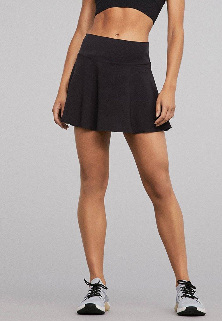 OYSHO_SPORT - Sports skirt - black