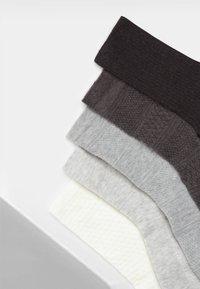 OYSHO - 5 PACK - Sokken - white/grey/dark grey - 6