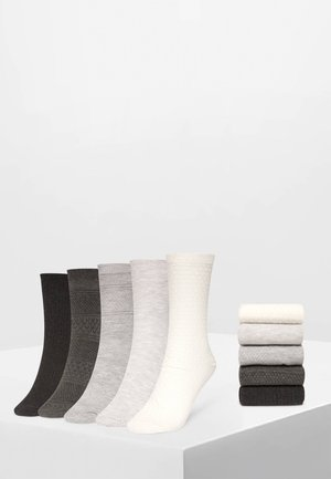5 PACK - Sokken - white/grey/dark grey