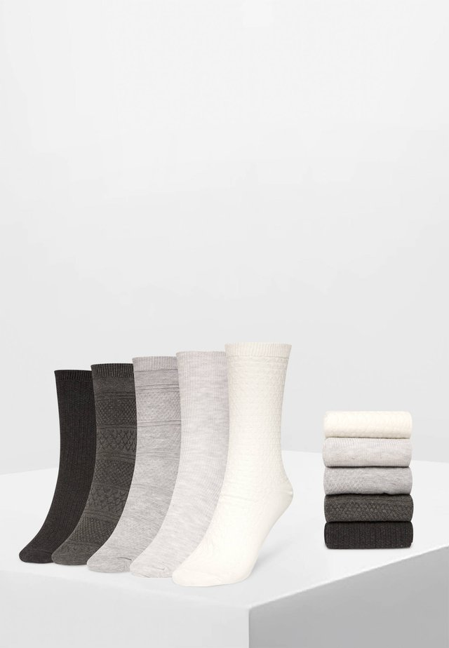 5 PACK - Sukat - white/grey/dark grey