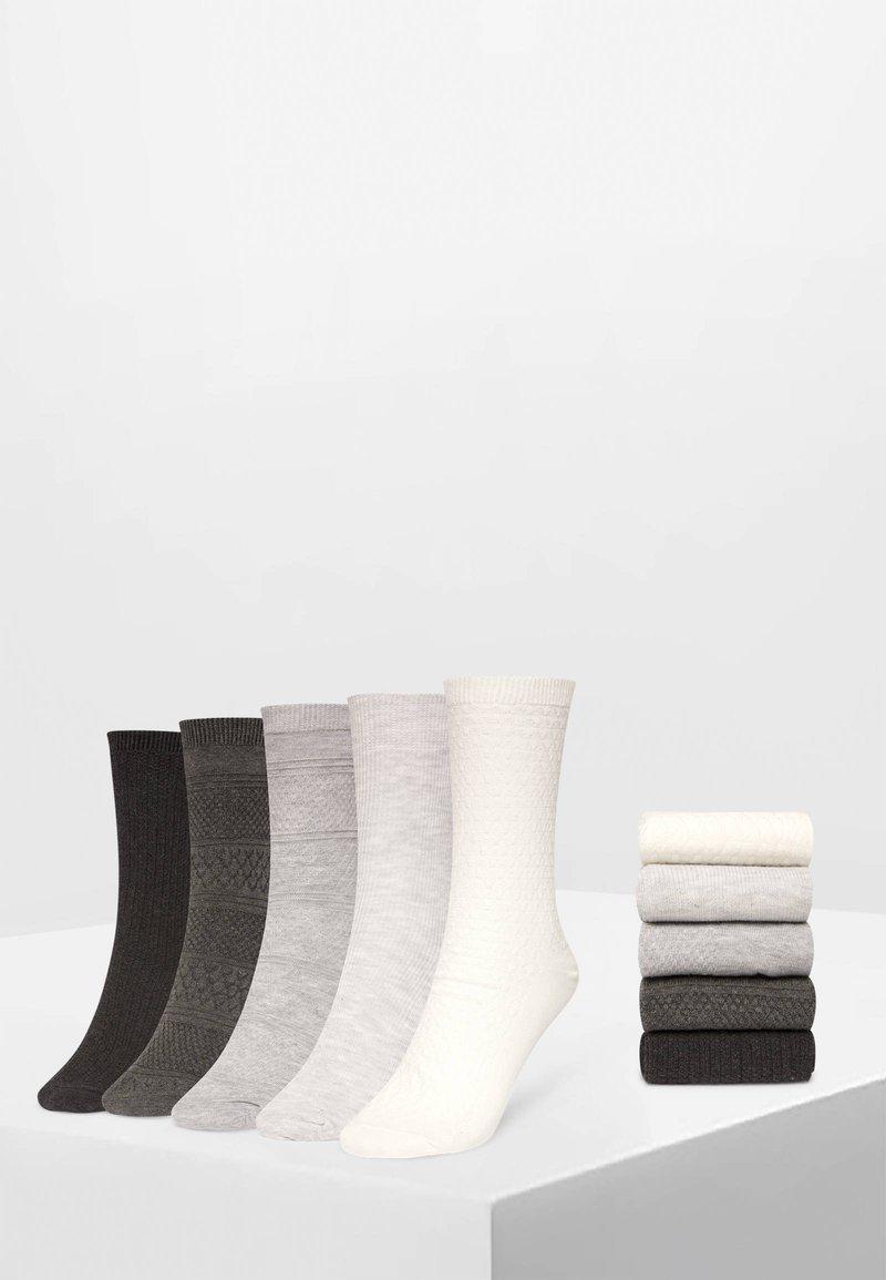 OYSHO - 5 PACK - Sokken - white/grey/dark grey
