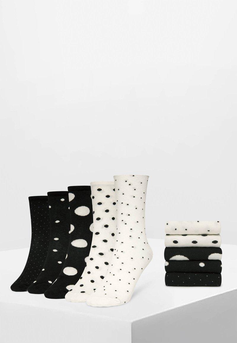 OYSHO - 5 PACK - Sokken - white/black